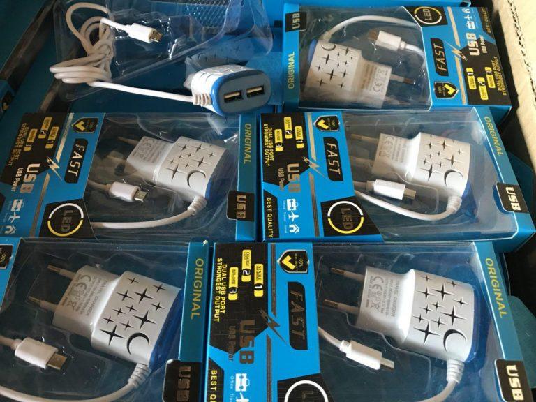 شارژر دوپرت fast LED چراغ دار