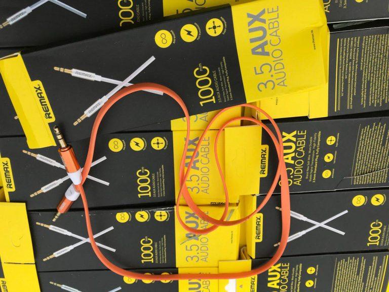 کابل 1 متری AUX REMAX فلت پهن نواری