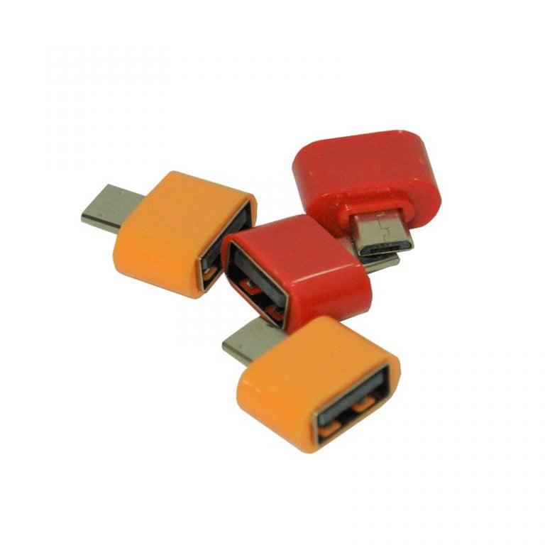 تبدیل OTG فله (قرمز و نارنجی بسته 10 عددی دونه ای 690)