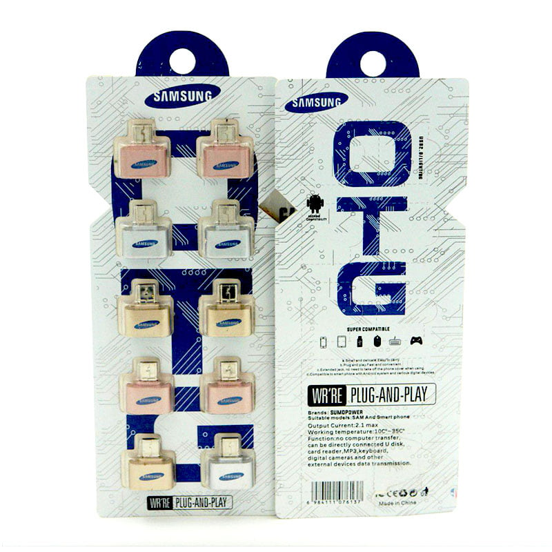رابط OTG سامسونگ پکدار (کیفیت عالی)