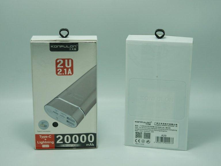 پاوربانک KONFULON ظرفیت 20 هزار مدل A20
