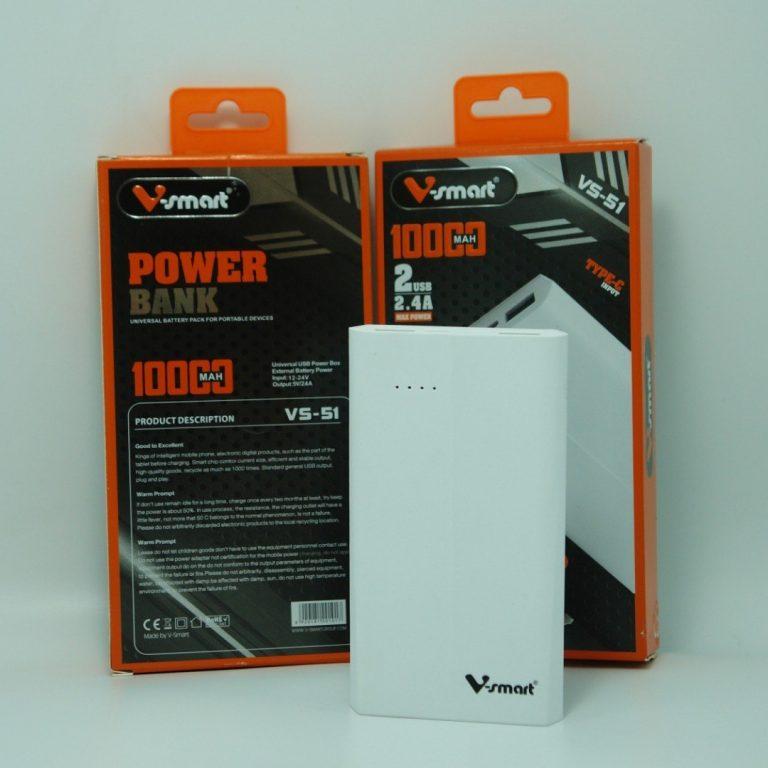 پاوربانک 10 هزار V-Smart مدل VS-51