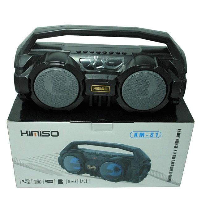 اسپیکر KIMSO مدل KM-S1 دارای چند مود اکولایزر ، رقص نور ، 2 باند BASS ، قابلیت اتصال میکروفون ، حجم صدا زیاد