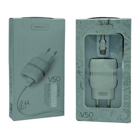 شارژر MICRO مدل V50 فست 2 پورت (اورجینال)