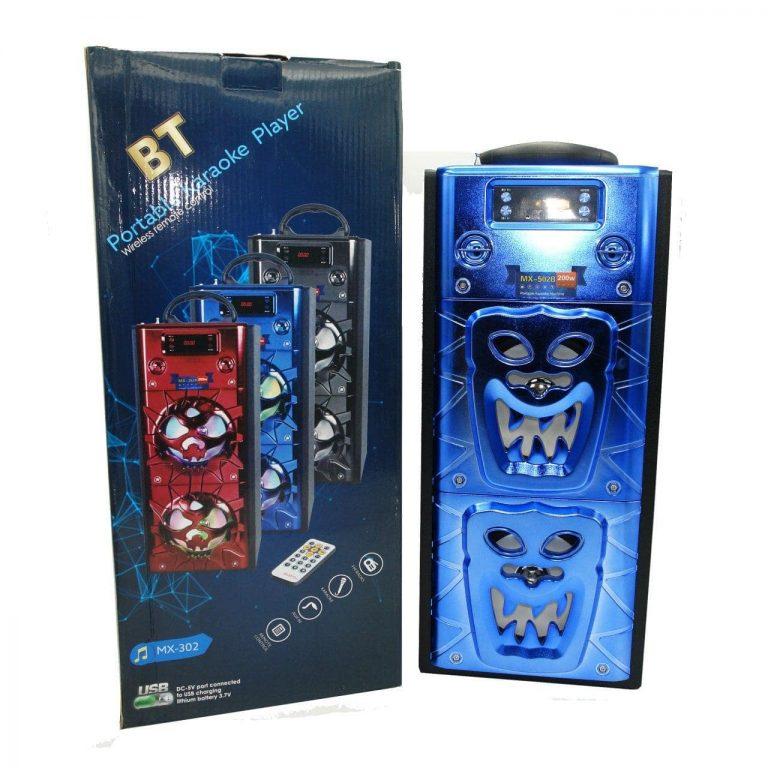 اسپیکر BT مدل MX-302 قابلیت اتصال میکروفون – کنترل دار – باتری BL-5C خور و معمولی – رادیو با کیفیت بالا – تنظیم BASS و حجم صدا بالا