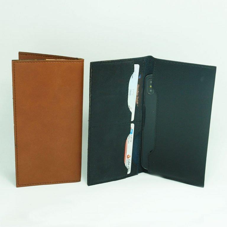 کیف جاموبایلی و کارت بانکی چرمی