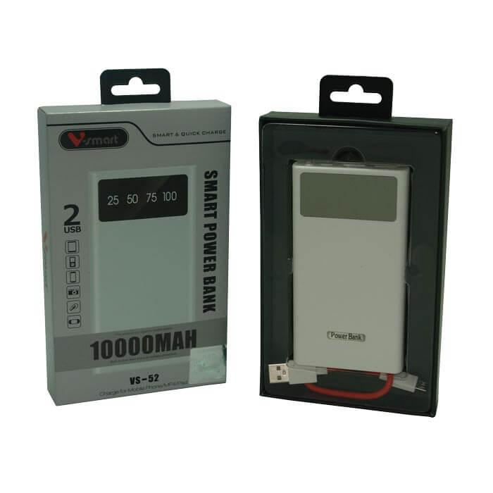 پاوربانک 10000 2 پورت فست مدل VS52 VSMART