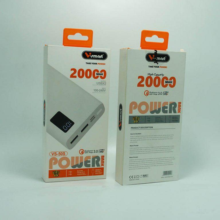پاوربانک 20 هزار VSMART مدل VS50 PD اورجینال