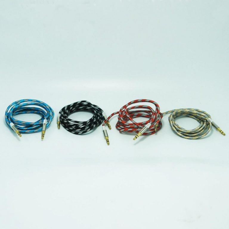 کابل AUX سرفلزی 1.5 متری رنگی