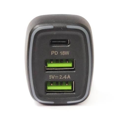 فندکی V-Smart مدل VS-19 فست QC3 دو پورت + پورت TYPEC (اورجینال)