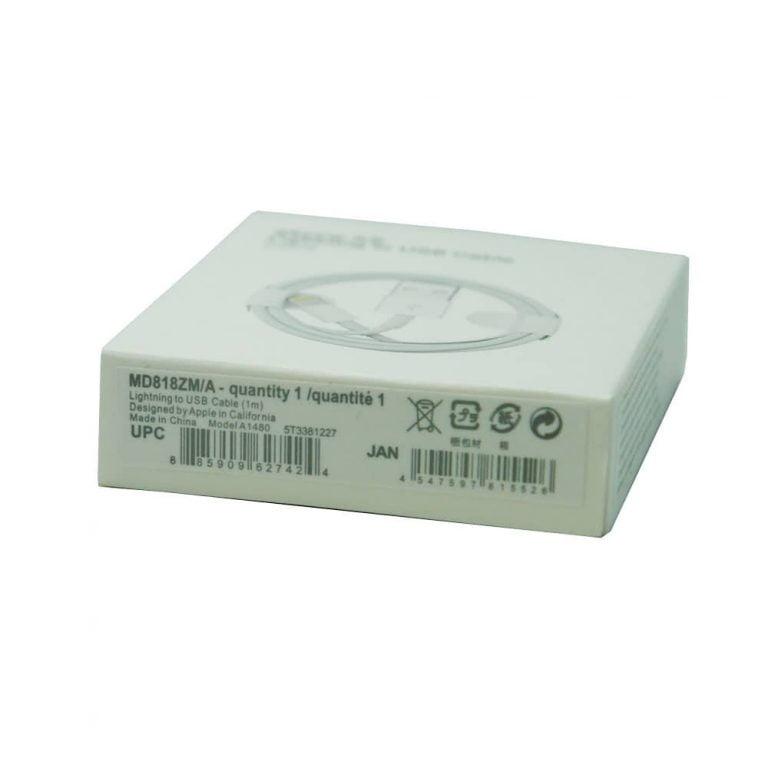 کابل آیفون XS MAX پک سفید