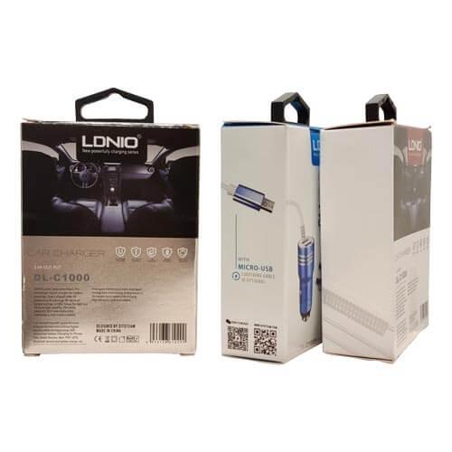 شارژر فندکی فول فلزی یکسره LDNIO مدل DL-C1000