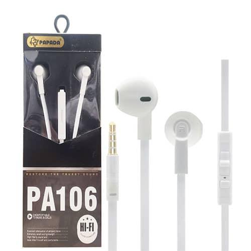 هندزفری PAPADA مدل PA106 کیفیت صدا بی نظیر اورجینال