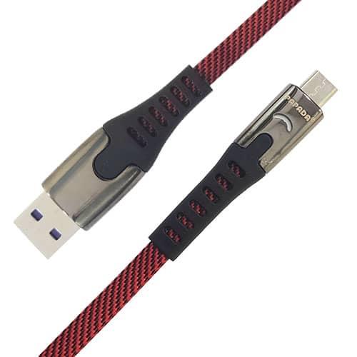 کابل PAPADA مدل F12 پورت MICRO فست چراغ دار اورجینال