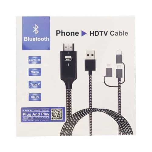 کابل HDTV انتقال تصویر موبایل بر روی TV 1080