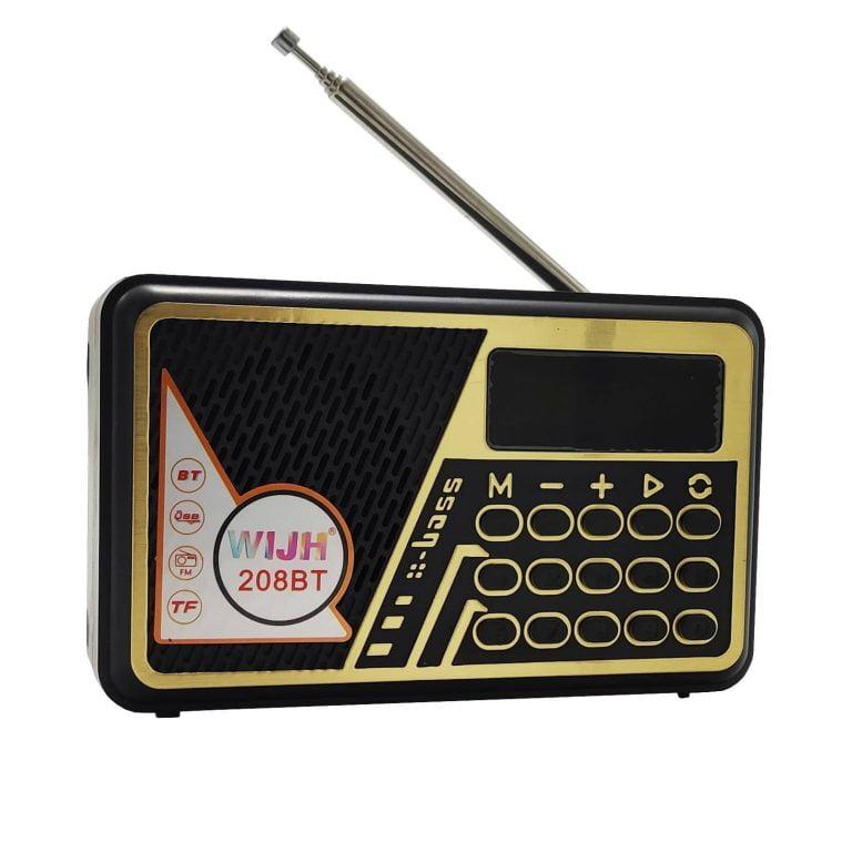 اسپیکر WIJH مدل 209BT رادیویی با باطری قابل تعویض