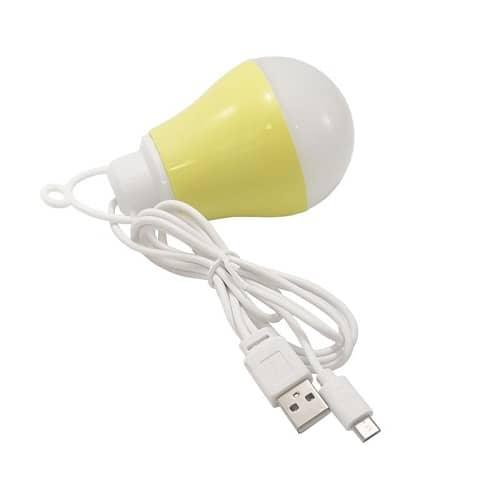 لامپ LED 2 کاره USB و میکرو