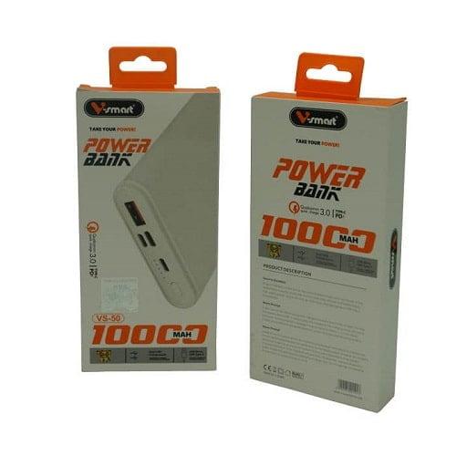 پاوربانک 10000 فست QC3 VSMART مدل VS-50