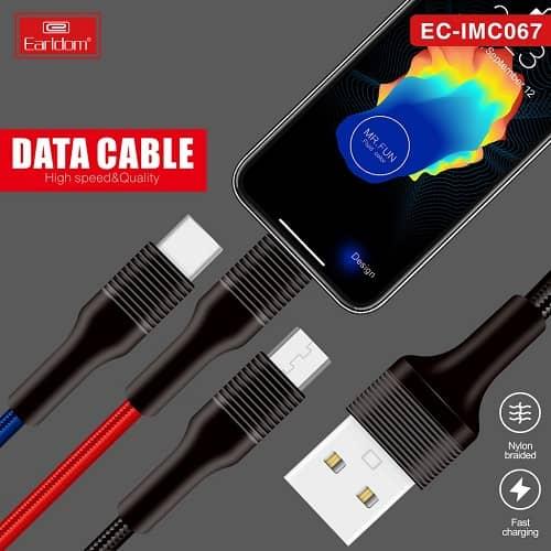 کابل EC-IMC067 سه کاره EARLDOM اورجینال