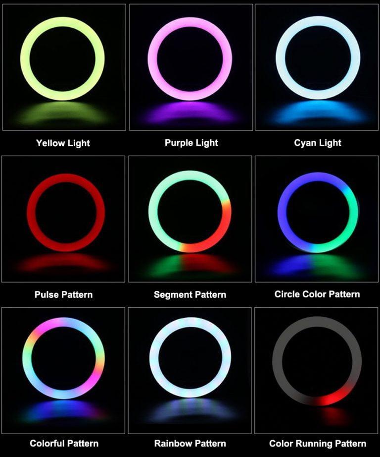 رینگ لایت MJ33 RGB بدونه استند