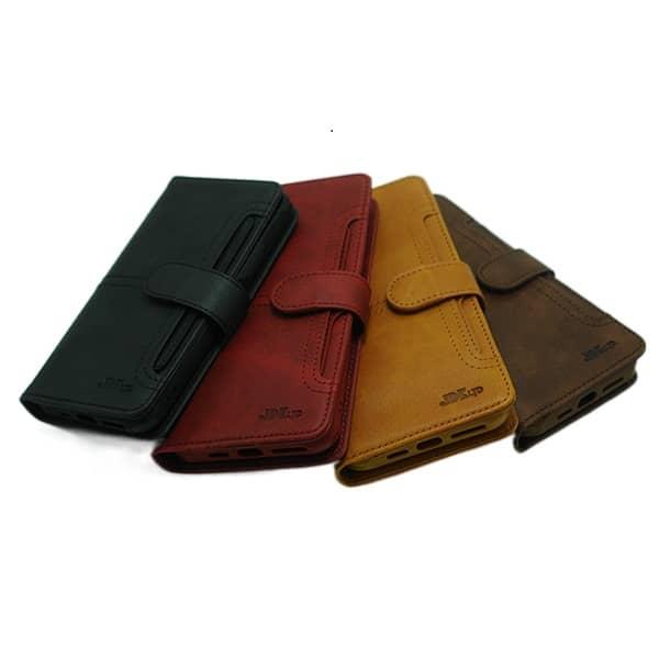 کیف چرمی آیفون JDK مدل IP 12 PRO MAX رنگ قرمز