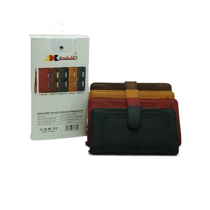 کیف چرمی آیفون JDK مدل IP 11 PRO رنگ مشکی
