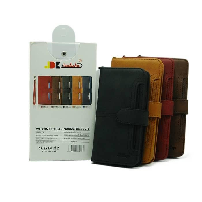 کیف چرمی آیفون JDK مدل IP 12 PRO رنگ طلایی