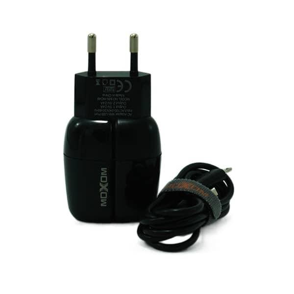 شارژر MICRO موکسوم 2 پورت سوپر فست مدل HC48 اورجینال