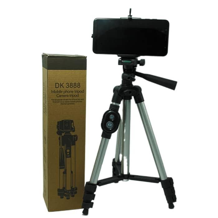 سه پایه نگهدارنده موبایل و دوربین ریموت دار مدل 3888