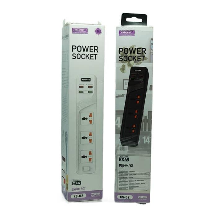 شارژر فست USB و چندراهی برق کلومن مدل C2