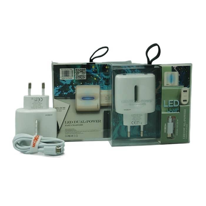 شارژر MICRO موکسوم 2 پورت سوپر فست مدل HC60 اورجینال