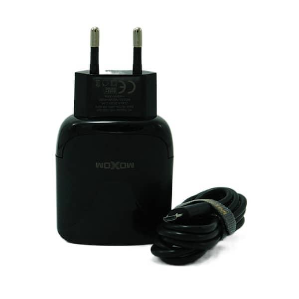 شارژر MICRO موکسوم 2 پورت فست مدل HC30 اورجینال